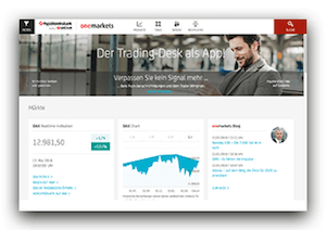 Zur onemarkets Website